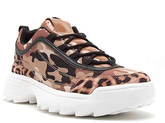 Qupid Women's Sneakers CAMEL - Camel Camo & Leopard Patent-Accent Sneaky Sneaker - Women