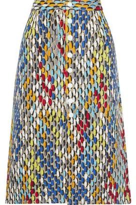 Simon Miller Printed Cotton-twill Skirt