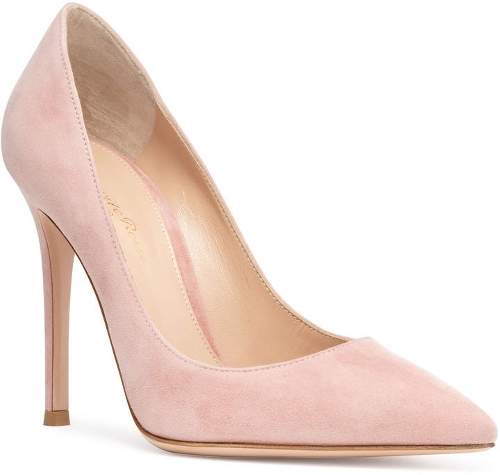 604a810b1fd Gianvito 105 dusty pink suede pumps