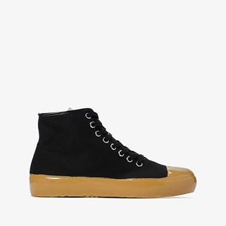 Marni Rubber Dip Tennis High Top Sneaker (Black) Men's Shoes