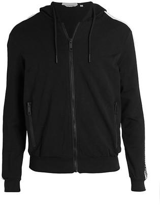 Antony Morato Logo-Sleeve Zip-Front Hoodie