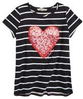Calvin Klein Stripe Sequin Heart Tee