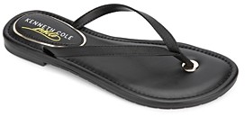 Kenneth Cole Women's Mello Leather Flip-Flops
