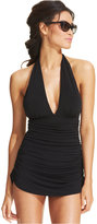 Magicsuit Ruched One-Piece Halter Swimdress