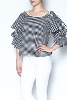 Do & Be Do-Be Gingham Layered Top