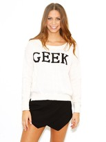 West Coast Wardrobe Geeking Out Sweater in Ivory/Black