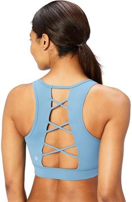 Core 10 Women's Lattice Yoga Sports Bra