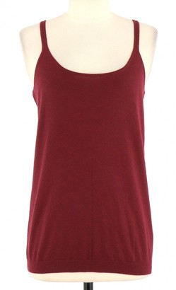 Eric Bompard Burgundy Cashmere Top for Women
