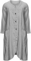 Isolde Roth Plus Size Pocket linen coat