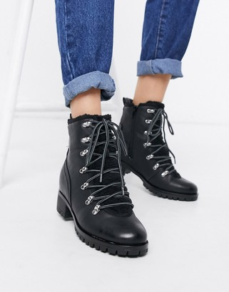 Call it SPRING anouska lined military boots in black