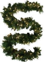 MOUNTAIN KING 9' Pre-Lit Glitter-Tipped Golden Pine Garland