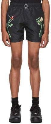 SSS World Corp Black Extrat Money Swim Shorts