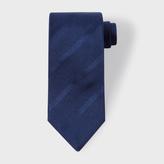 Paul Smith Men's Navy Textured Diagonal Stripe Silk Tie