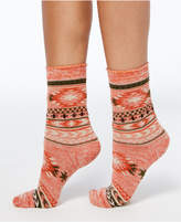 Hue Women's Blanket-Print Boot Socks