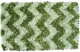 The Well Appointed House Child's Shaggy Raggy Rug in Green Chevron-Available in Two Different Sizes