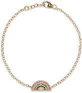 Andrea Fohrman Rainbow 14-karat Gold Multi-stone Bracelet - one size