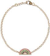 Andrea Fohrman Rainbow 14-karat Gold Multi-stone Bracelet