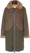 Moncler - Garcia Shearling-trimmed Cotton-twill And Wool-blend Hooded Down Parka