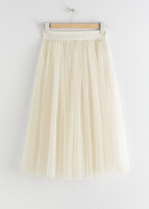 And other stories Layered Tulle Midi Skirt