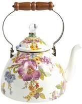 Mackenzie Childs MacKenzie-Childs - Flower Market Enamel Tea Kettle - White - Large