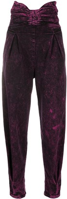 RED Valentino Marbled Bow Detail High-Waisted Trousers