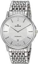 Edox Men's 56001 3M AIN Les Bemonts Analog Display Swiss Quartz Silver Watch
