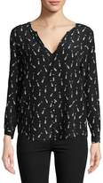 Joie Women's Graphic Silk Blouse