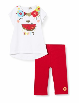 Tuc Tuc RED T-Shirt and CARPI Leggings Set for Girl Tropical Jungle