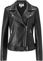 Jigsaw Premium Leather Jacket, Black