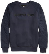 G Star Men's Tarev Quilted Embroidered-Logo Sweatshirt