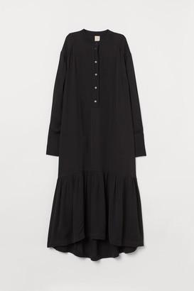 H&M Long Twill Dress - Black