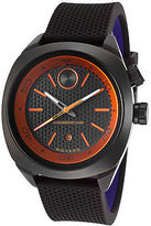 Movado 3600212 Men's Bold Black Silicone and Dial Orange Accents