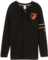 PINK Baltimore Orioles Bling Lace-up Varsity Crew