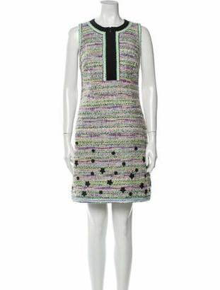 Andrew Gn Printed Mini Dress Purple