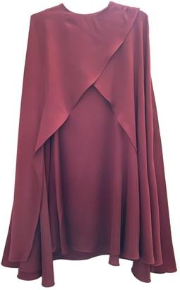 Sonia Rykiel Burgundy Silk Dress for Women