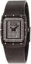 Johan Eric Women's Tondor Tonneau IP Pave Swarovski Dial Steel Watch JE1006-13-007.16