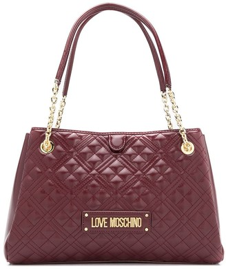 Love Moschino Quilted Logo Tote Bag