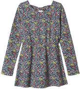 Joe Fresh Kid Girls' Floral Long Sleeve Dress, JF Midnight Blue (Size S)
