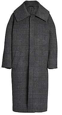 Balenciaga Women's Incognito Check Wool-Blend Coat