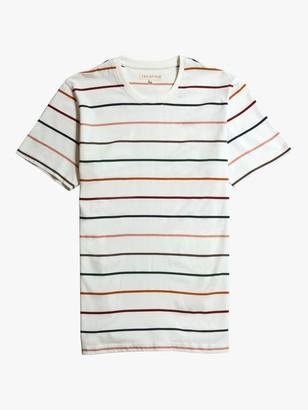 Far Afield Stripe Organic Cotton T-Shirt, Ecru Wide Stripe