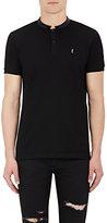Saint Laurent Men's Cotton Polo Shirt-BLACK
