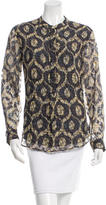 Isabel Marant Toa Burnout Printed Blouse w/ Tags