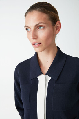 Cos Cotton Two-Tone Cardigan