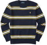 Ralph Lauren Striped Combed Cotton Sweater