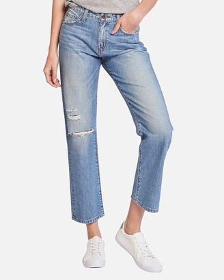 Express Flying Monkey High Waisted Straight Cropped Jeans