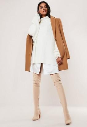 Missguided Camel Formal Coat