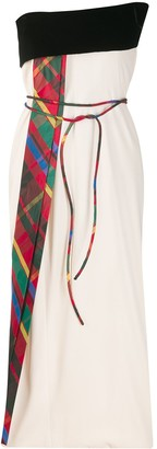 Gianfranco Ferré Pre Owned Strapless Tie Waist Dress