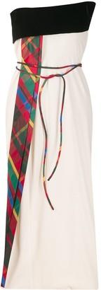 Gianfranco Ferré Pre-Owned Strapless Tie Waist Dress