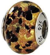 Murano Prerogatives Sterling Gold & Black Italian Glass Bead