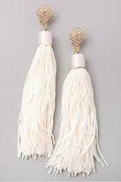 Minx White Tassel Earrings